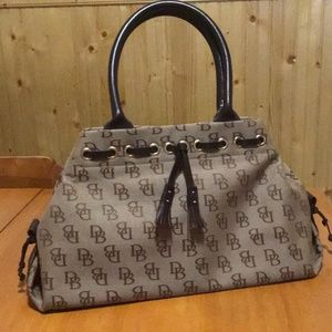 Dooney & Bourke Brown Tapered Tassell Bag